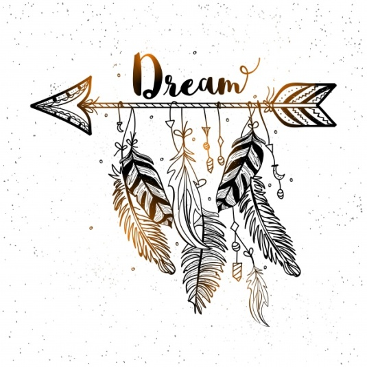 beautiful-background-of-decorative-arrow-with-feathers-in-boho-style_1302-4346